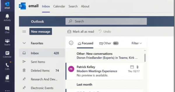 Adding Outlook Email and Calendar App to Microsoft Teams, a proof... - Tom Talks Blog